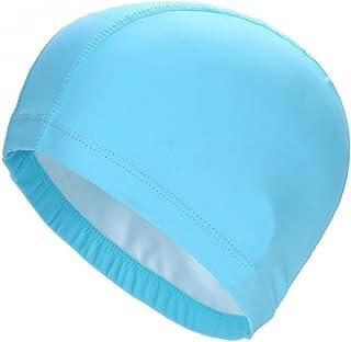 bb6a768d Morza Gorro de baño elásticos PU Impermeable Proteger Gorro de baño Orejas  Sombrero de Pelo Largo