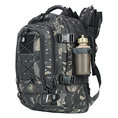 ARMYCAMO Expandable Adjustable 40L - 64L Outdoors 3 Day Backpack for Hiking School Gym Sport Camping Trekking Travel Military & Tactical,Bug Out Bag
