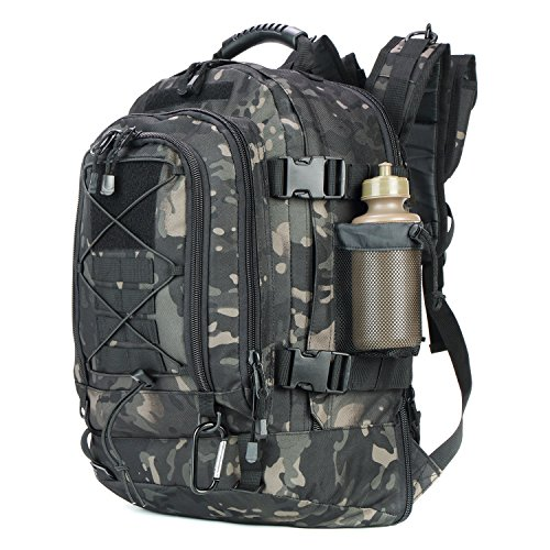 ARMYCAMOUSA 40L - 64L Outdoor Expandable Tactical Backpack Military Sport Camping Hiking Trekking...