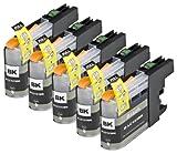 5 Multipack de alta capacidad Brother LC123 Cartuchos Compatibles 5 negro para Brother DCP-J132W, DCP-J152W, DCP-J172W, DCP-J552DW, DCP-J752DW, DCP-J4110DW, MFC-J245, MFC-J470DW, MFC-J650DW, MFC-J870DW, MFC-J2310, MFC-J2510, MFC-J4410DW, MFC-J4510DW, MFC-J4610DW, MFC-J4710DW, MFC-J6520DW, MFC-J6720DW, MFC-J6920DW. Cartucho de tinta . LC123BK © 123 Cartucho