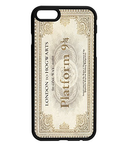 Harry Potter Train Ticket Hogwarts Platform 9 3/4 Rubber Bumper Hard Back Phone Case Cover for iPhone & Samsung's (Samsung Galaxy S8)