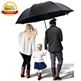 TEASTAR Big Umbrella Large Golf Umbrella 60 Inch Automatic Open Extra Large Windproof Umbrella Waterproof Sun Rain Protection Stick Umbrellas Teflon Rain Repellant