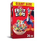 Kellogg's Froot Loops Cereal - Fruity Flavorful Breakfast Kids Love, Giant-Size, 26 oz Box