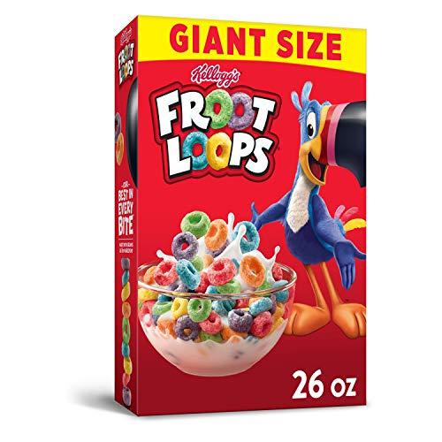 Kellogg's Froot Loops, Breakfast Cereal, Original, Good...