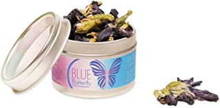 Anti-aging Color Changing Blue Butterfly Tea | 100% Pesticide Free, Nontoxic, GMO-Free, Healthy | Premium Quality and Carefully Selected | Packed in a Reusable Metal Tin | Perfect for Baking, Cooking
