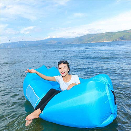 Rolly Poly Inflatable Lounger Air Sofa Hammock-Portable,Water Proof& Anti-Air Leaking Design-Ideal Couch for Backyard Lakeside Beach Traveling Camping Picnics & Music Festivals