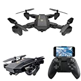 LeaningTech XS809W WiFi FPV pieghevole RC Quadcopter with Camera 10 Minutes,...