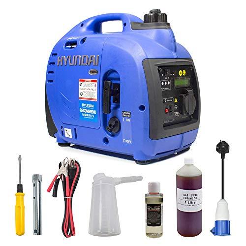 Hyundai HY1000SI 1000 W Portable 4-Stroke Petrol Generator / Inverter Easy Start