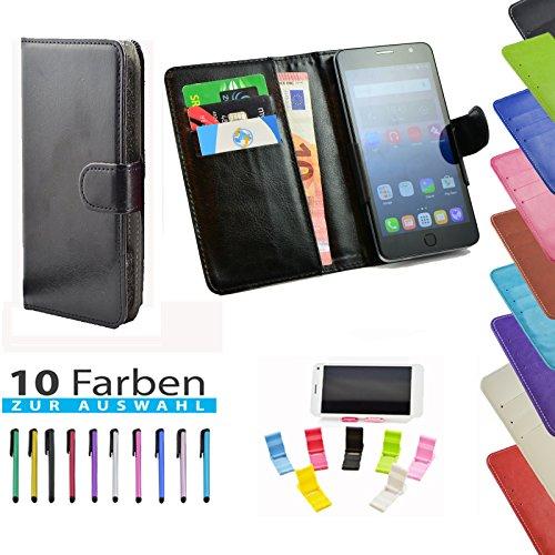 5 in 1 set ikracase Slide Hülle für Medion Life P5006 Smartphone Tasche Case Cover Schutzhülle Smartphone Etui in Schwarz