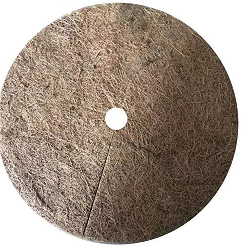 Chalkalon 10pcs Couverture de paillis de Noix de Coco Couverture Tapis de Coco pour Jardinage Hiver, Disques De Paillage Coco Respirant et Recyclable, 20cm/30cm/40cm
