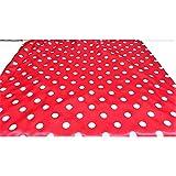 Satin stoff karneval gedruckt polka-dot-weiß-rotem grund