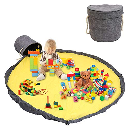 Hengda Borsa per Giocattoli 150cm, Custodia per Giocattoli, Tappetino da Gioco per Bambini, Organizzatore di Giocattoli Borsa Panno Oxford, Toy Storage Bag per, Portable Child Toy Organizer