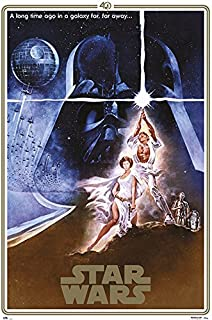 Star Wars: Episode IV - A New Hope - Movie Poster/Print (40th Anniversary Gold Border Edition - Regular Style A) (Size: 24 inches x 36 inches)