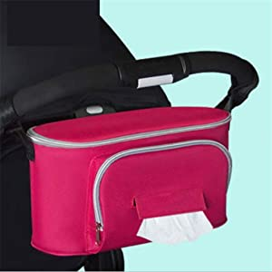TianranRT  Storage Bag  Carry Bag for Stroller  Carry Bag for Mummy Bag  Indispensable Accessories for Children s Cars  Multi-Colour  Pink