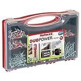 Fischer Redbox Duopower 140 Tasselli con Vite per Muro Pieno, Mattone Forato, Cartongesso e Gasbeton, 536091