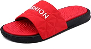 Men Sandals Slippers for Men Pool Slides Casual PVC Leather Light and Flexible Outsole Color Matching Comfortable