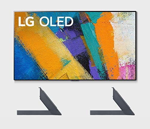 LG OLED65GXP 65' OLED Gallery Design Smart 4K Ultra High Definition Smart TV with a LG AN-GXDV65 OLED GX 65' Furniture & Shelf Top TV Stand Mount (2020)