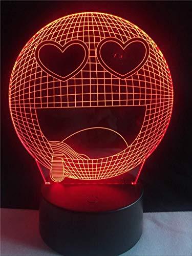Bunte 3D Conversion Lights Lampe 7 Farben Emoji 3D Usb Led Kreative Wohnkultur Kindergarten Gadget Kind Spielzeug Weihnachtsgeschenk Ändern