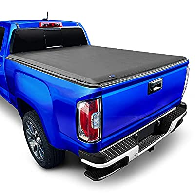 """Tyger Auto T1 Soft Roll Up Truck Bed Tonneau Cover for 2004-2012 Chevy Colorado / GMC Canyon; 2006-2008 Isuzu I350 Fleetside 5'1"""" Bed TG-BC1C9001, Black"""