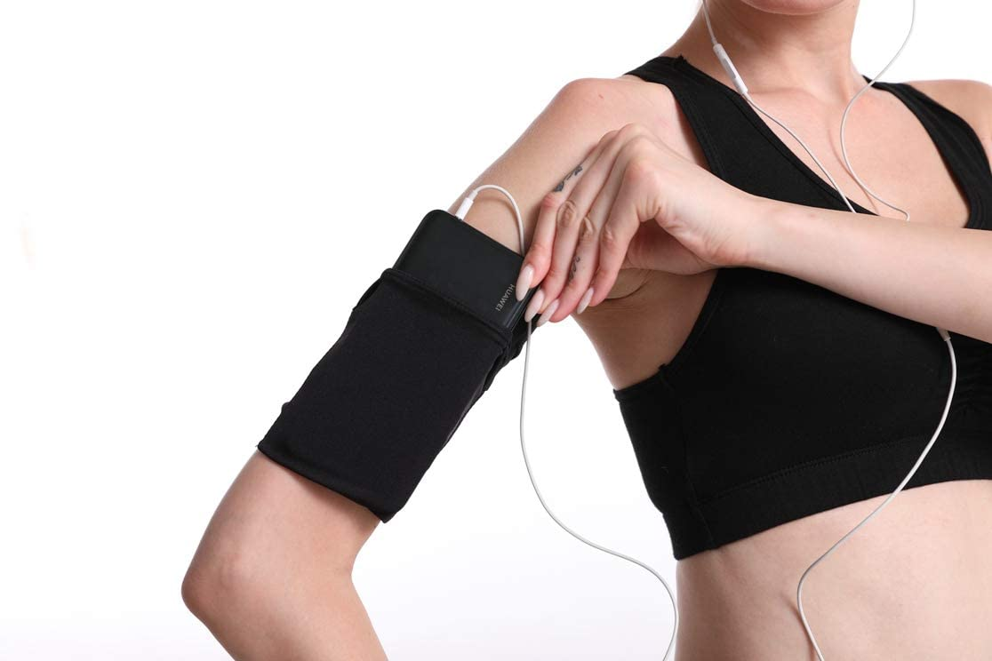 Phone Armband Sleeve, Running Phone Holder Armband, Cell Phone Armband for Running, Sports Armband for All Phones Fitness and Gym Workouts Universal