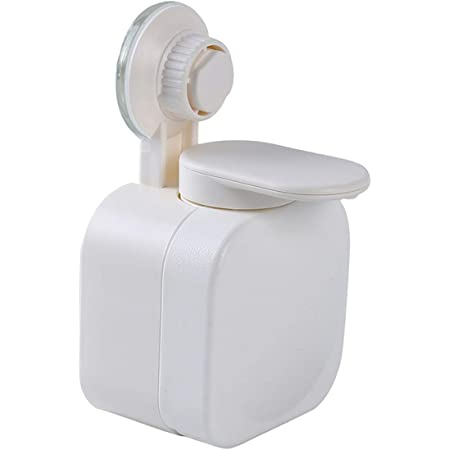 Idiytip ソープディスペンサー 壁掛け 風呂 キッチン おしゃれ ウォールマウントポンプ(白)