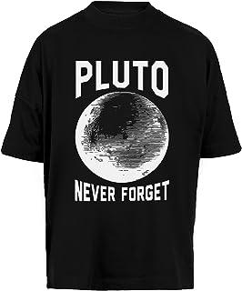 Pluto Never Forget Unisex Camiseta Holgada Hombre Mujer Mangas Kortas - Unisex Baggy T-Shirt Black