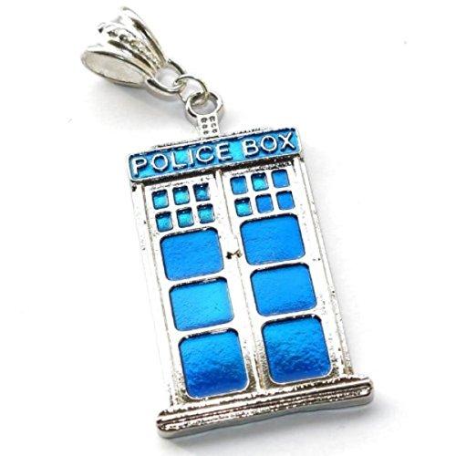 Charm Buddy Charm-Anhänger Doctor Who Raum- / Zeitmaschine Tardis auch als Schlüsselanhänger geeignet passend für Pandora-Armbänder