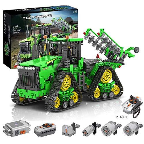 Lommer Technik Traktor Ferngesteuert Raupentraktor Bausteine, Kompatibel mit Lego Technic - 1706 Teile
