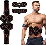 SHENGMI ABS Stimulator,Muscle Toner Abdominal Trainers,Ab Stimulator Workout Portable EMS Muscle...