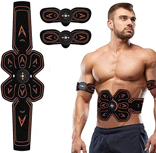 SHENGMI ABS Stimulator,Muscle Toner Abdominal Trainers,Ab Stimulator Workout Portable EMS Muscle Stimulator Home Office Fitness Exercise Equipment for Abdomen/Arm/Leg Training