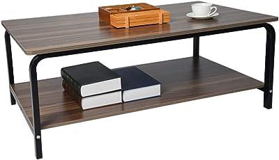 Amazon.com: ASOBIMONO Mesa de café para salón con estante ...