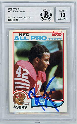 Ronnie Lott 1982 Topps Autographed Card #486 - BGS 10