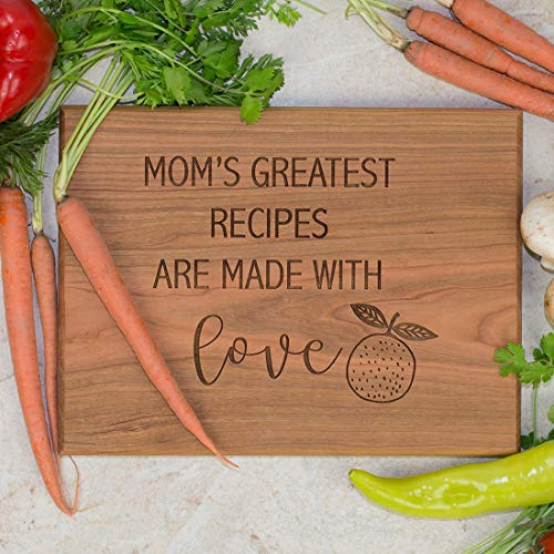 Personalized Cutting Board - Mom's Greatest Recipes are Made with Love
