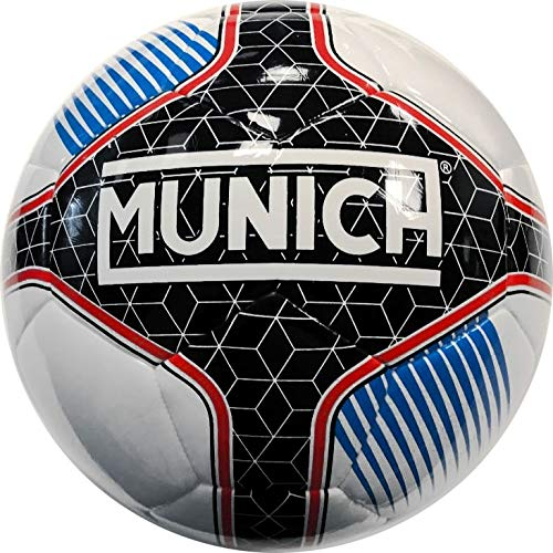 Munich Balón Fútbol Sala Hera Indoor Federacio Galega 58 cm Talla Única, Color Blanco, Negro