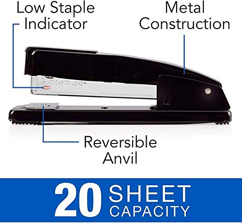 """Swingline Stapler Bundle of 2: Desk Stapler, 20 Sheet Capacity (Black) & 2 Packs of Standard Staples (1/4"""" Length, 210/Strip, 5000/Box)   Stapler Remover Photo #5"""