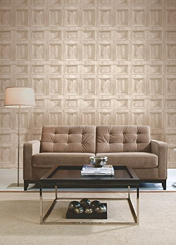 Brewster FD31054 Wood Panel Wallpaper - Cream