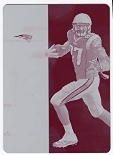 Rob Gronkowski 2018 Panini Plates & Patches 2017 Contenders Magenta Printing Plate 1/1 New England Patriots