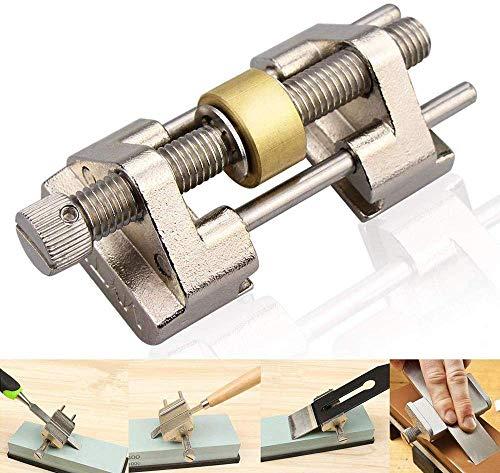 POWERTOOL - Affilatrice angolare per affilare i bordi, guida per levigare gli angoli fissi, con rullo in ottone, per scalpello in legno, scalpello piatto