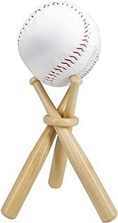 Wooden Baseball Display Stand Holder -Consists of 3 Mini Baseball Bat (1 Pack)
