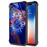 iPhone Xs MAX Case,Supernatural Cosmos iPhone Xs MAX Cases for Men Boys,9H Tempered Glass Graphic Design Shockproof Anti-Scratch Tempered Glass Case for Apple iPhone Xs MAX