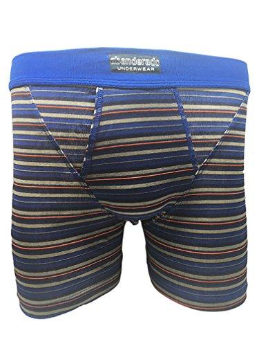 Abanderado Boxer abierto x 2 moda, Hombre, Azul (Tamaño del fabricante:M/48)