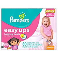 Pampers Girls Easy Ups Training Underwear, 4T-5T (Size 6), 60 Count (Old Version) by Pampers