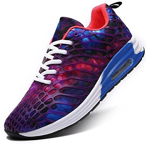 [WEIDANSIER] ランニングシューズ スニーカー レディース メンズ ジョギングシューズ 運動靴 ウォーキングシューズ カジュアルシューズ スポーツシューズ 軽量 大きいサイズ 男性 通学靴 通販 紫 26.0cm [並行輸入品]