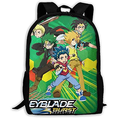 Kimi-Shop Unisex Erwachsene Rucksack Bey-Blade Burst Evo-Lution Bookbag Reisetasche Schultaschen Laptop-Tasche für Männer und Frauen