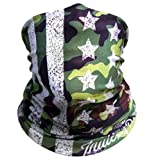 Camo American Flag Motorcycle Face Mask By Indie Ridge - Ski Snowboard Seamless Headwear