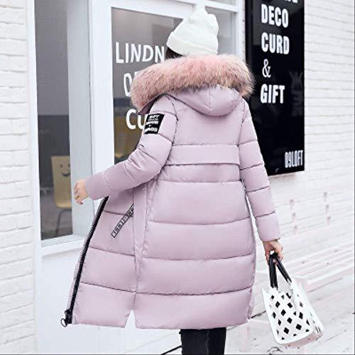 KOUPNLTM Femmes Hiver À Capuche Manteau Long Chaud Mince Down Vestes Vogue À Manches Longues Outwear XXXL Rose