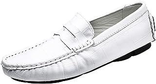 zpllsbratos Mocassins PU Cuir Slip on Loafers Homme Chaussures de Conduite Confort Plat Décontracté 38-47