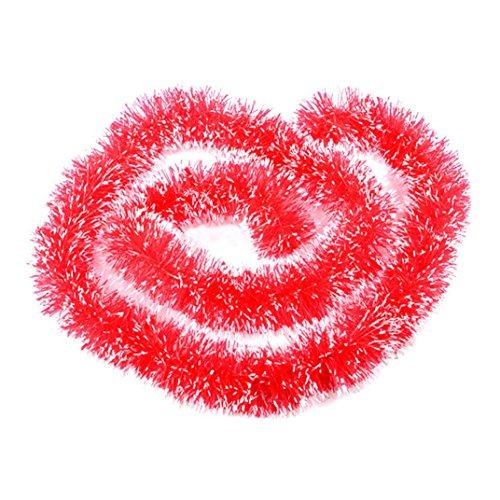 Amlaiworld Festa di Natale decorazione Hanging Orpello appeso (rosso)