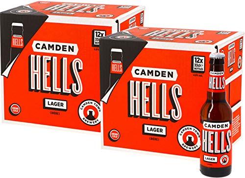 Big Pack Cervezas - 24 cervezas - Cervezas Artesanas - Degustacion (Big Pack Camden Hells Lager - 24 Cervezas)