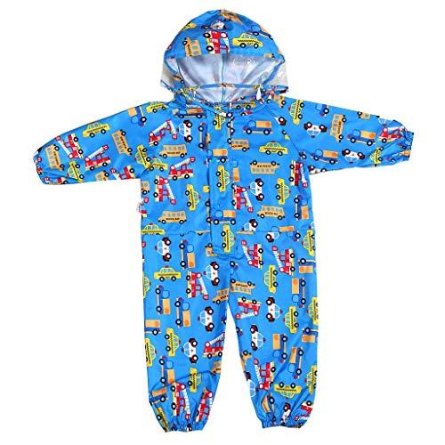 Vine Mono impermeable de una pieza para niños (1-7 años), Azul / Patchwork, 1-3 Años